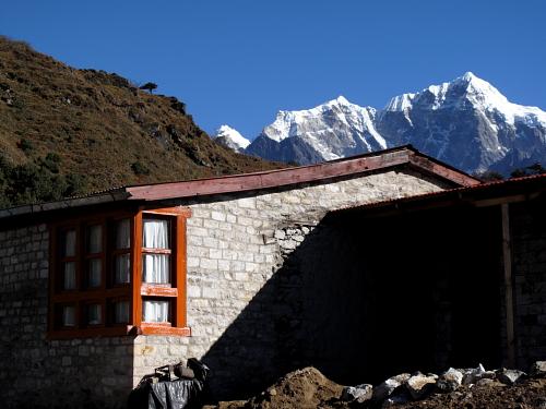 stone house and mountyain